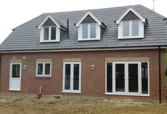 New build house, Waterlooville - rear elevation